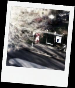 man-bij-bushalte